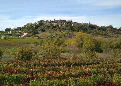 Het dorpje Faucon in de herfst