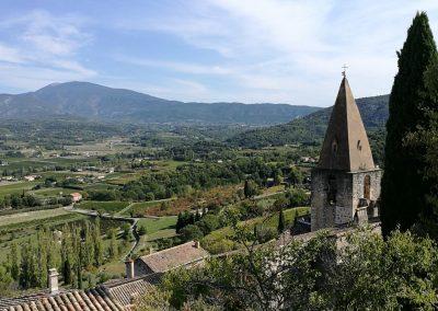 Uitzicht vanaf Le Crestet