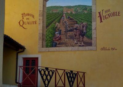 Muurschildering in St Maurice