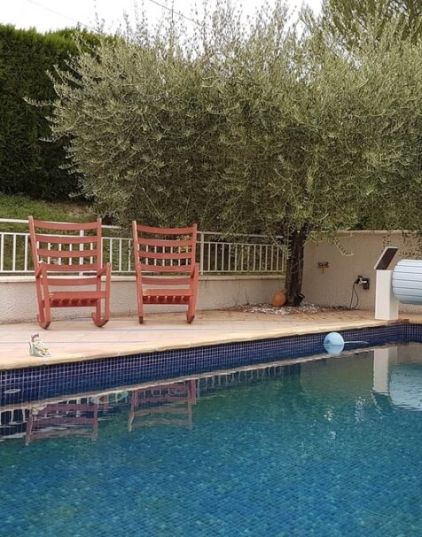 Sitting area by the swimming pool