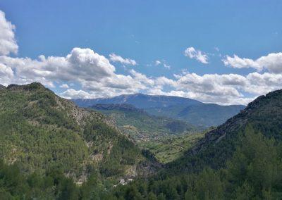 Vue sur Buis-les-Baronnies lors de la montée du Col d'Eye